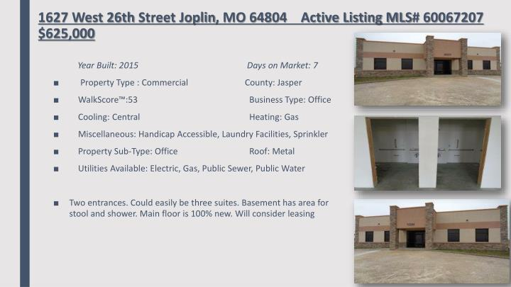 1627 west 26th street joplin mo 64804 active listing mls 60067207 625 000