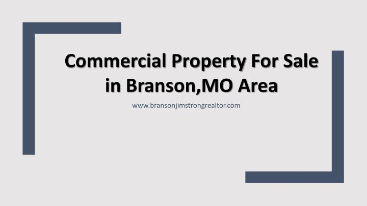 Commercial Property For Sale in