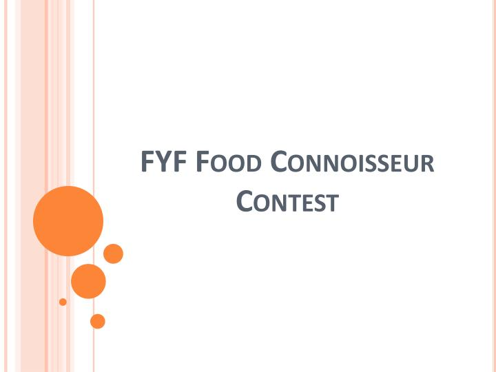 Fyf food connoisseur contest