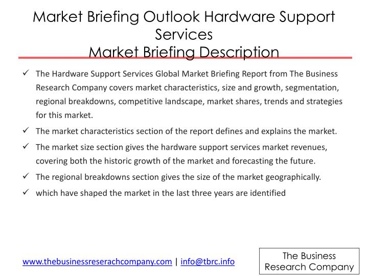 Market Briefing Outlook Hardware