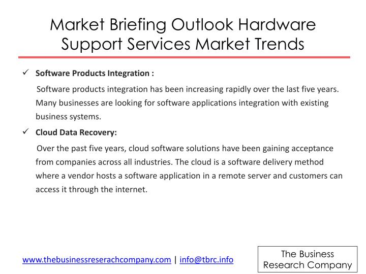 Market briefing outlook hardware support services market trends