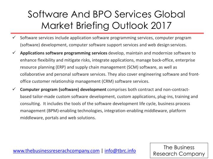 Software And BPO Services Global Market