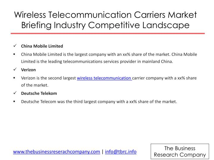 Wireless Telecommunication Carriers Market Briefing