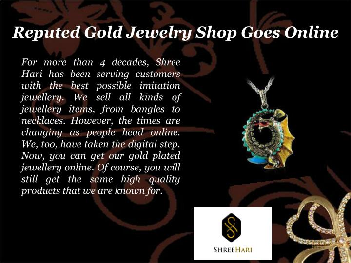 Reputed gold jewelry shop goes online