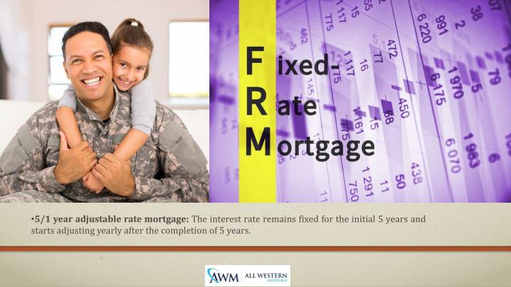 5/1 year adjustable rate mortgage: