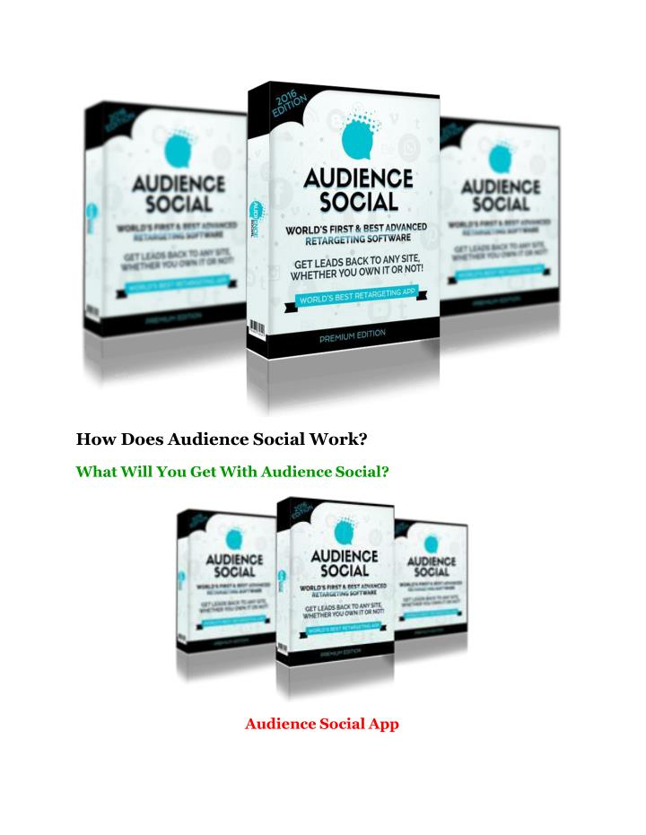 How Does Audience Social