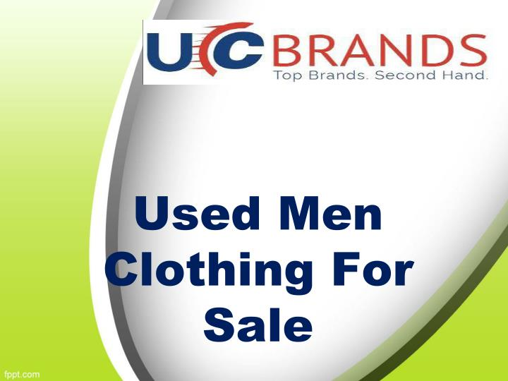 Used men clothing for sale