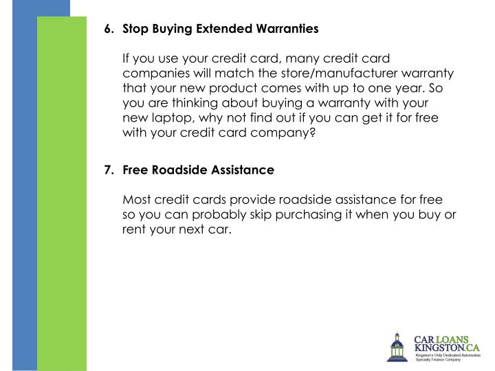 Stop Buying Extended Warranties