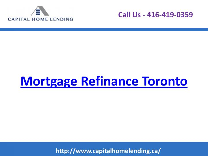 Mortgage refinance toronto