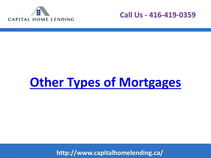 Other types of mortgages