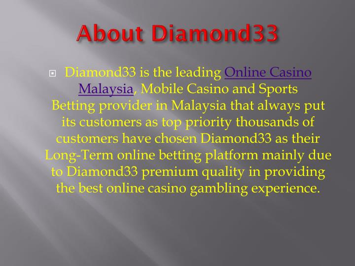 About Diamond33