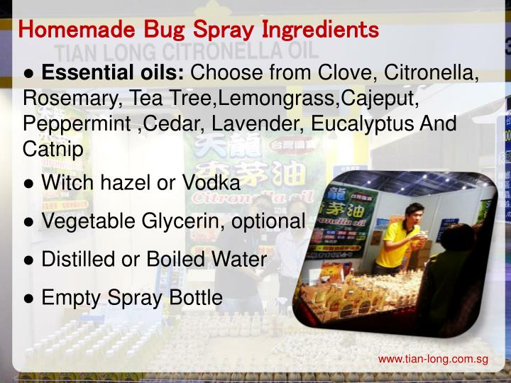 Homemade Bug Spray Ingredients