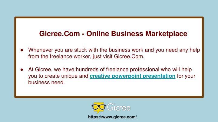 Gicree.Com - Online Business Marketplace