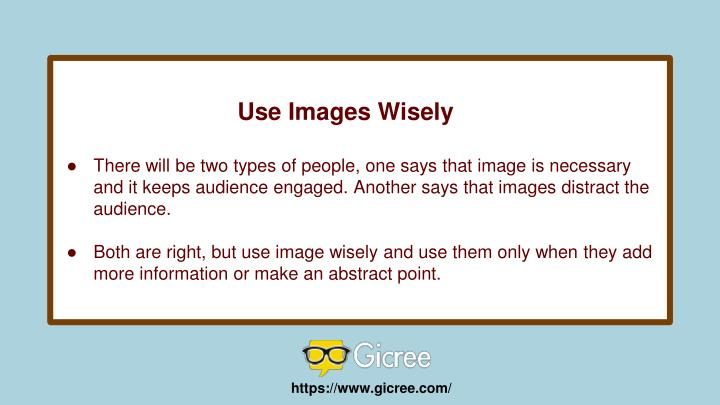 Use Images Wisely
