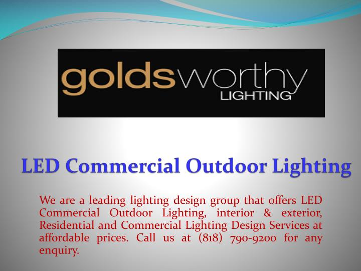 Led commercial outdoor lighting