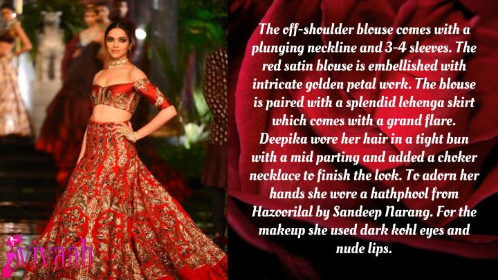 The off-shoulder blouse comes with a plunging neckline and 3-4 sleeves. The red satin blouse is embe...