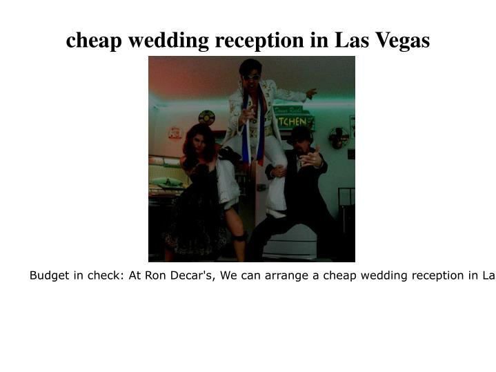 Cheap wedding reception in las vegas
