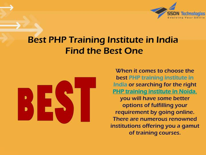 Best PHP Training Institute in India