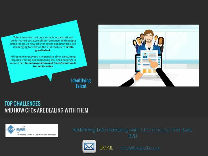 Redefining b2b marketing with CFO email list from Lake