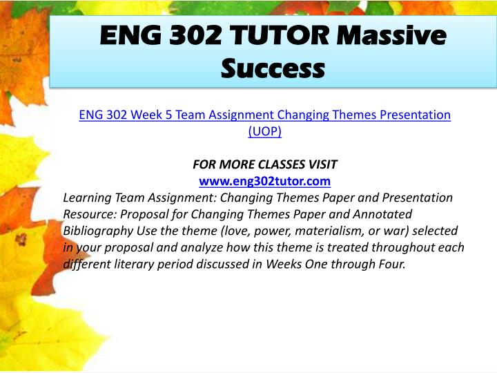 ENG 302 TUTOR Massive Success