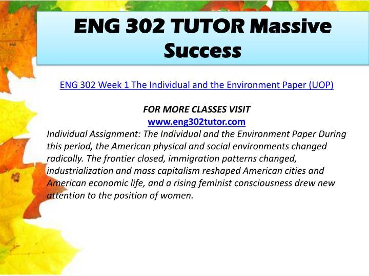 ENG 302 TUTOR Massive Success