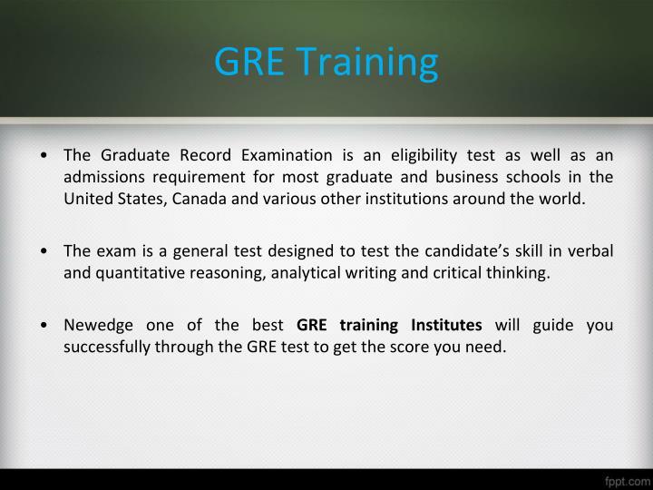 GRE Training