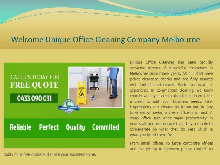 Welcome unique office cleaning company melbourne