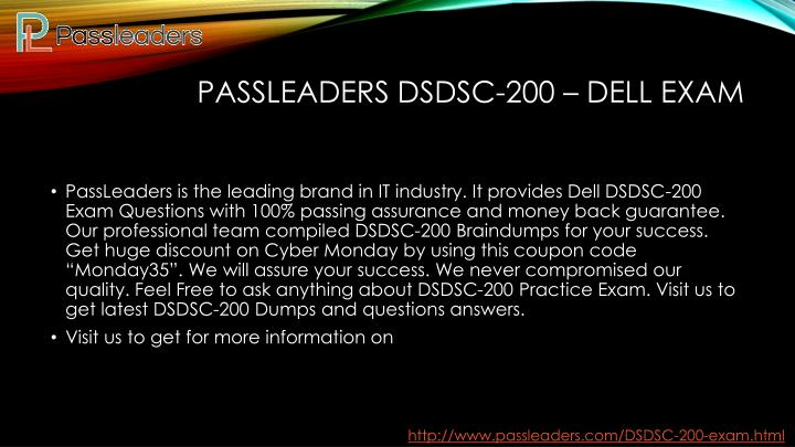 Passleaders DSDSC-200 – Dell EXAM