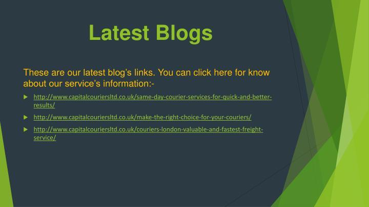 Latest Blogs