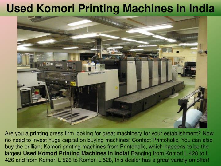Used Komori Printing Machines in India