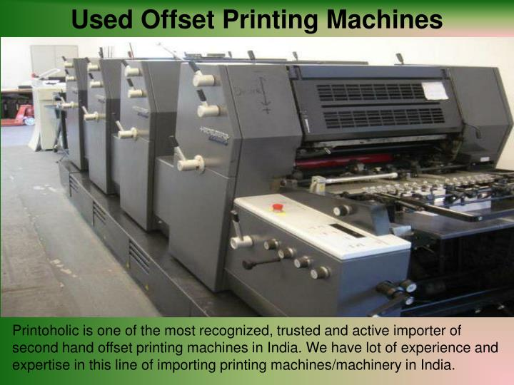 Used Offset Printing Machines