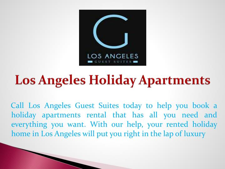 Los angeles holiday apartments