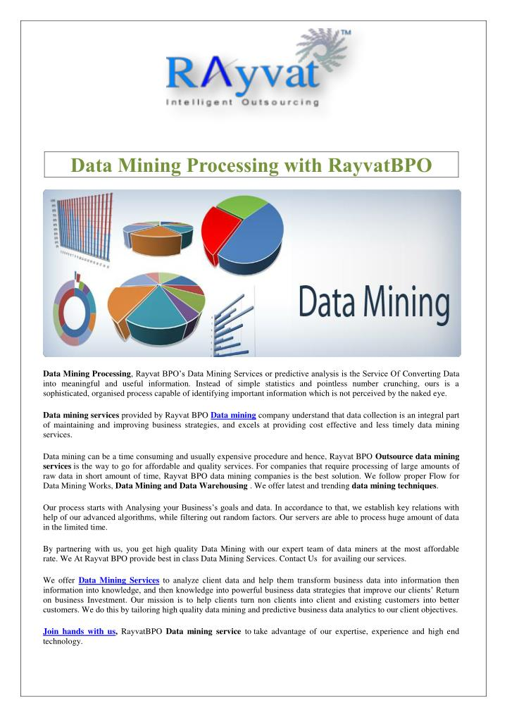 Data Mining Processing with RayvatBPO