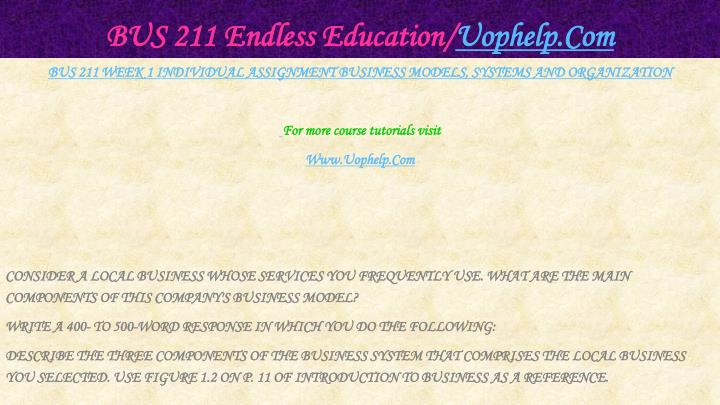 Bus 211 endless education uophelp com2