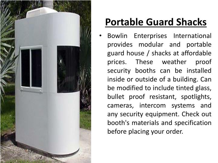 Portable Guard Shacks