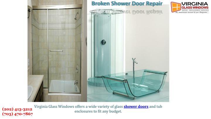 Broken Shower Door Repair