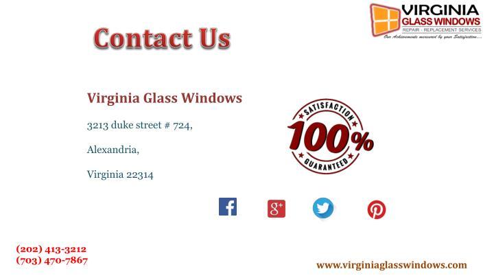 Virginia Glass Windows