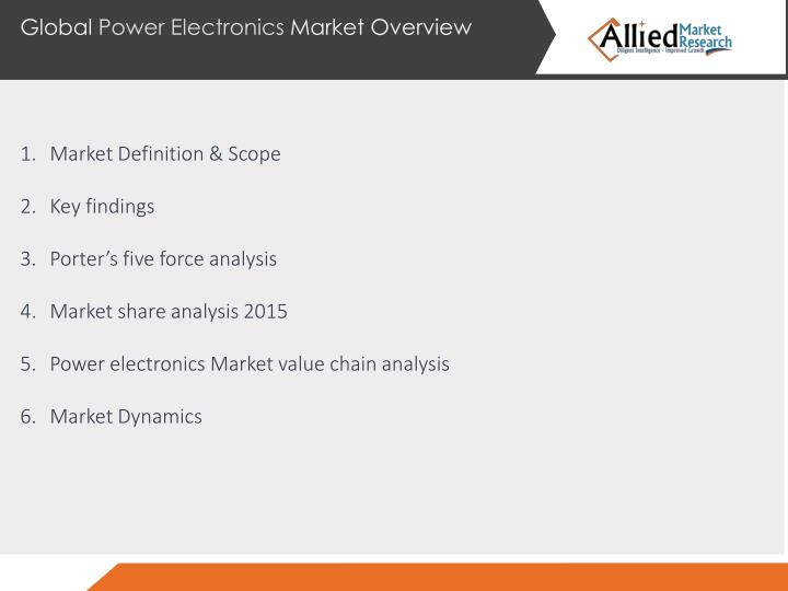 Global Power Electronics Market Overview