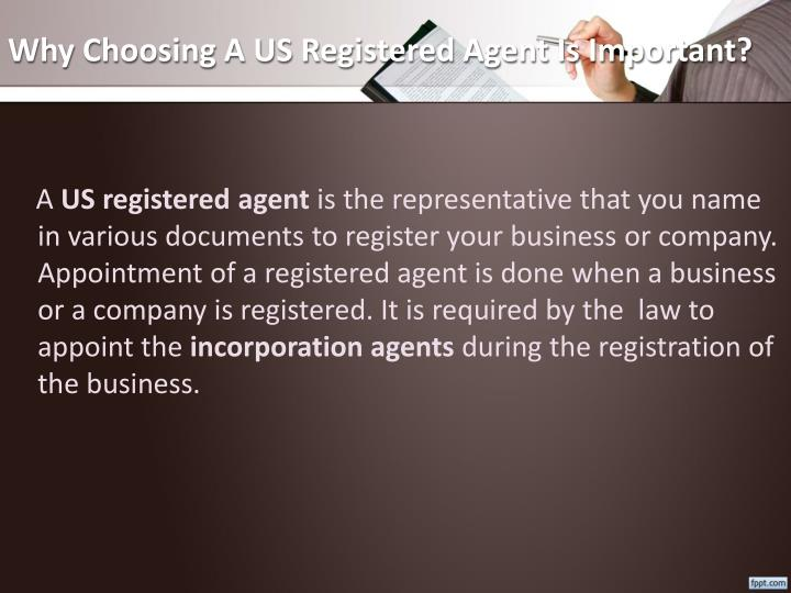 Why Choosing A US Registered Agent Is Important?