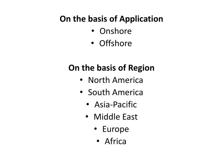 On the basis of Application