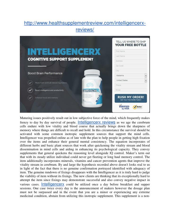 Http://www.healthsupplementreview.com/intelligencerx-