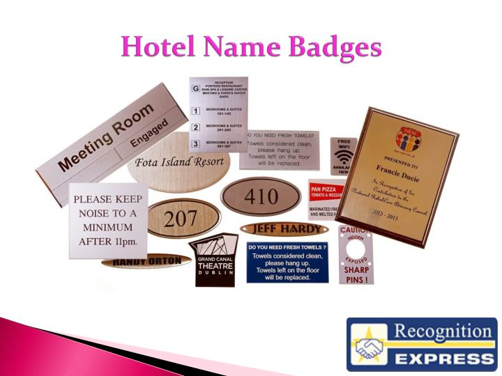 Hotel Name Badges