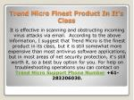 trend micro finest product in it s class