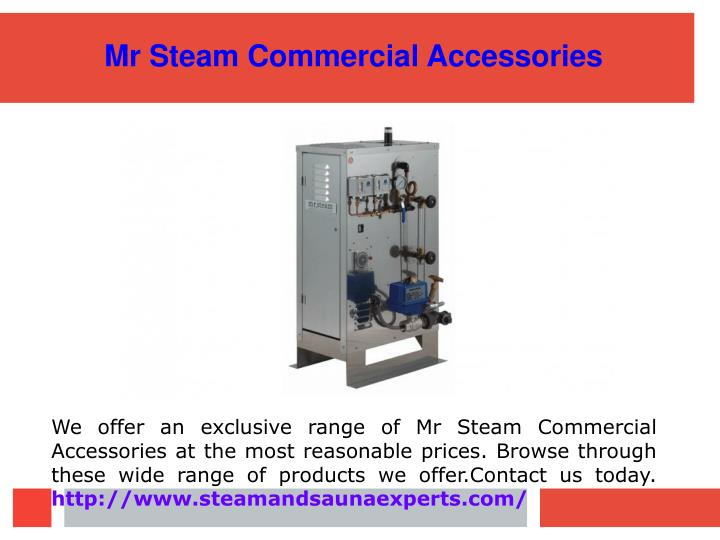 Mr Steam Commercial Accessories