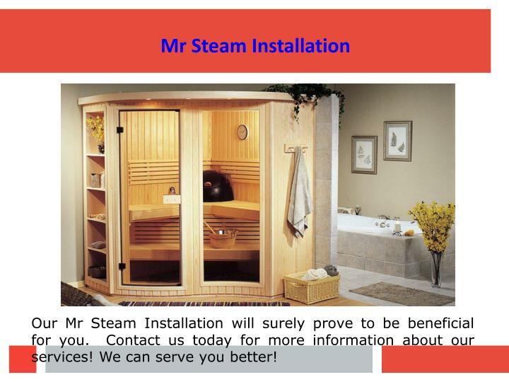 Mr Steam Installation
