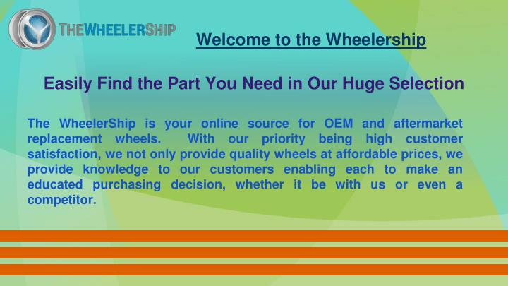 Welcome to the Wheelership
