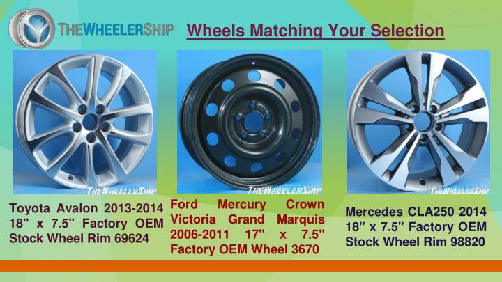 Wheels Matching Your Selection