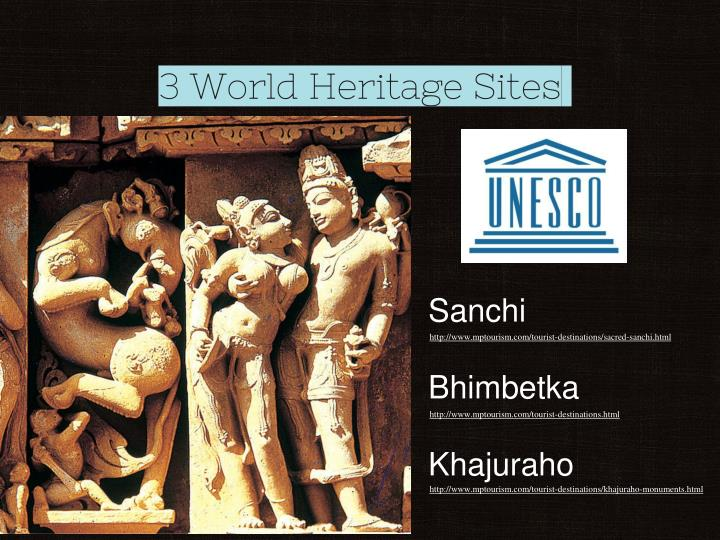 3 World Heritage Sites