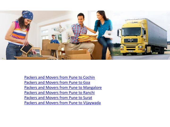 Packers and Movers from Pune to Cochin