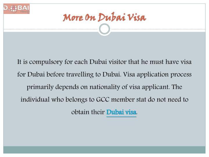 More On Dubai Visa